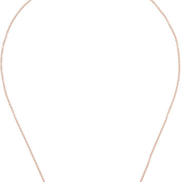 "Monica Vinader - Rolo 24"" rose gold-plated chain"
