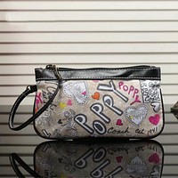 COACH Women Fashion Print Leather Tote Clutch Bag Handbag Satchel