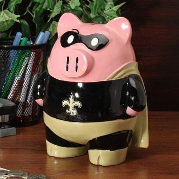 New Orleans Saints Piggy Bank - Large Stand Up Superhero