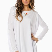 COZY LONG SLEEVE TOP IN WHITE BY PIKO
