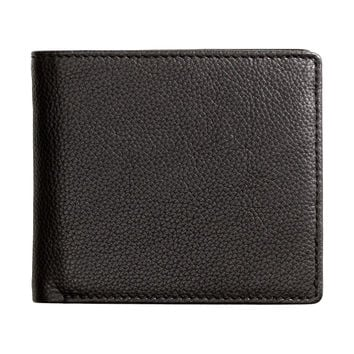 H&M - Leather Wallet - Black - Men