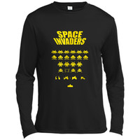 Space Alien Invaders  | 80s Invaders Game  Long Sleeve Moisture Absorbing Shirt