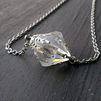 Clear Lana Lang Smallville inspired necklace. Kryptonite. Meteor rock.