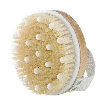 Handled Boar-Bristle Brush Face Brush Natural Bristle Beechwood Foot Brush HS11