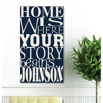 "18""x24"" Canvas - Where Our Story Begins - Lake House Rules"
