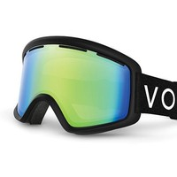 VonZipper - Beefy Black Snow Goggles / Quasar Chrome Lenses