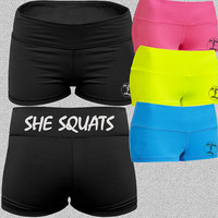 She Squats. Gym Shorts. Workout Shorts. Yoga Shorts. Running Shorts. Workout Gym Fitness Performance Running Shorts