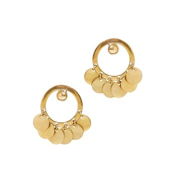 Brass Medallion Earrings