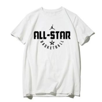 NIKE Jordan New fashion hook letter print couple top t-shirt White