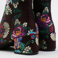 Hana Embroidered Ankle Boots in Multi Floral