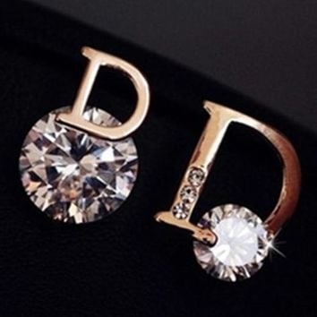Dior Women Fashion Diamonds Chic Accessories Fine Jewelry Earrings
