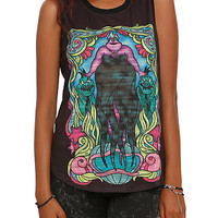 Disney The Little Mermaid Ursula Stained Glass Girls Muscle Top
