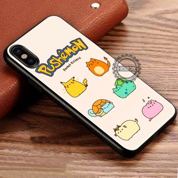 Cute Anime Pushemon Pokemon iPhone X 8 7 Plus 6s Cases Samsung Galaxy S8 Plus S7 edge NOTE 8 Covers #iphoneX #SamsungS8
