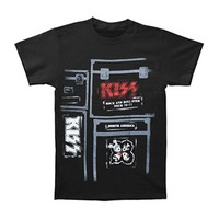 KISS Men's  KISS Crew T-shirt Black Rockabilia