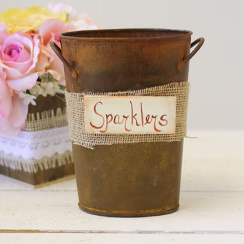 Sparklers Holder Rustic Chic Wedding Farewell (Item Number 140316) NEW ITEM