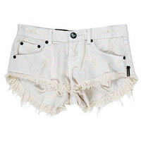 One Teaspoon Bonitas cut-offs in worn white