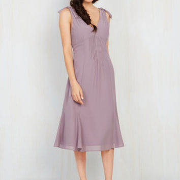 Ties to the Occasion Dress in Lavender | Mod Retro Vintage Dresses | ModCloth.com