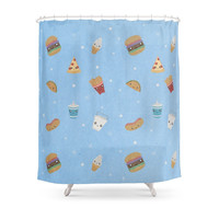 Society6 Fast Food Party! Shower Curtains