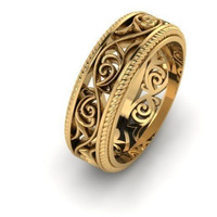 Gothic Weave Wedding Band