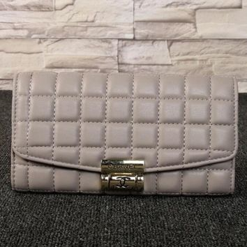 CHANEL Leather Purse Wallet Buckle Satchel For Women H-MYJSY-BB