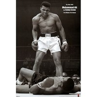 Muhammad Ali (Vs. Sonny Liston, First Round, First Minute) Sports Poster Print