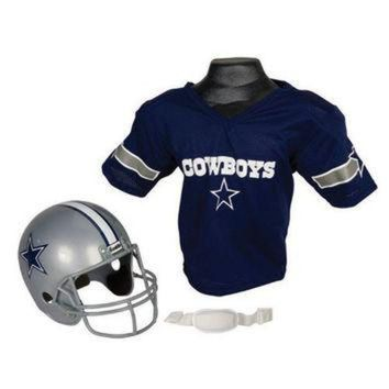 PEAPYD9 Dallas Cowboys Youth NFL Helmet and Jersey Set