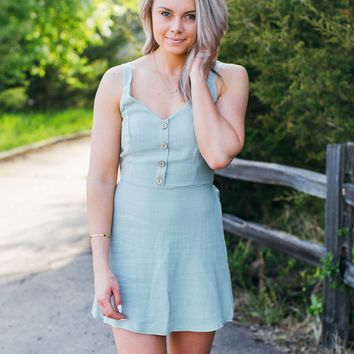 I've Got Plans Dress-Sage