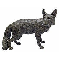 SheilaShrubs.com: Bushy Tail Fox Statue KY1864 by Design Toscano: Garden Sculptures & Statues