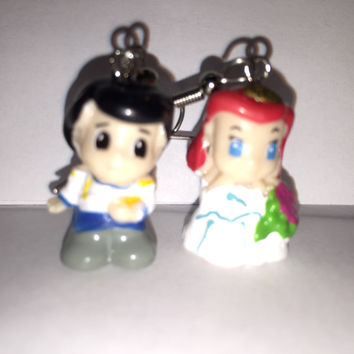 Squinkies Earrings -  Wedding Ariel & Eric - made from re-purposed toys