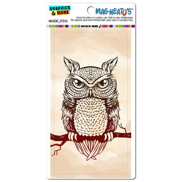 Owl on Branch Rustic - Bird MAG-NEATO'S TM Car-Refrigerator Magnet