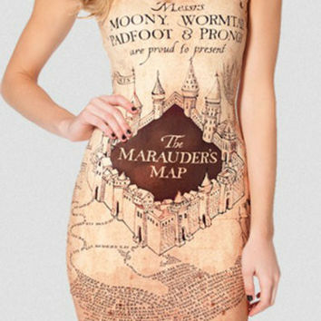 The Marauder's Map Harry Potter Party Dress