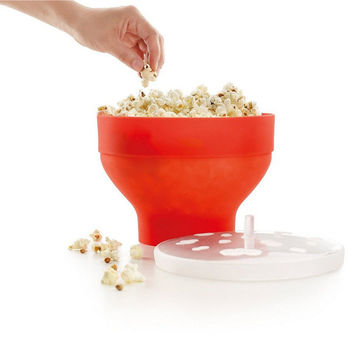 High Quality DIY Popcorn Microwaveable Popcorn Maker Pop Corn Bowl  Microwave Safe New Kitchen Bakingwares