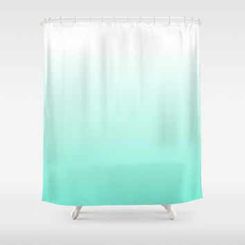 Blue Ombre Shower Curtain by Siobhaniaa
