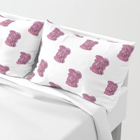 Pink Bunny Pillow Sham by drawingsbylam