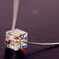 Womens Shining Crystal Necklace Gift-45