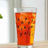 Happy Birthday Pint Glass- Assorted One