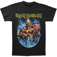 Iron Maiden Men's  7th Son Circle T-shirt Black