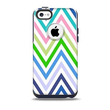 The Fun Colored Vector Sharp Chevron Pattern  Skin for the iPhone 5c OtterBox Commuter Case