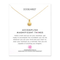 accomplish magnificent things starburst crystal necklace, gold dipped - Dogeared