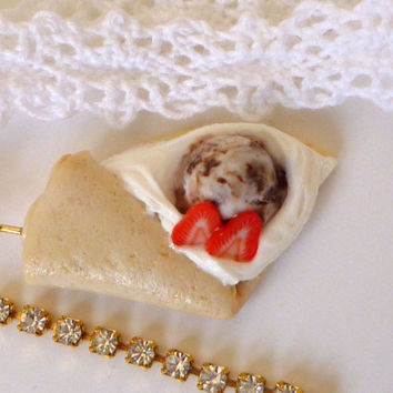 Crepe Charm - Deco Sweets/Decoden Polymer Clay Crepe iPhone Charm/Smartphone Charm/Dustplug