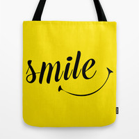 Smile  Tote Bag by Sara Eshak
