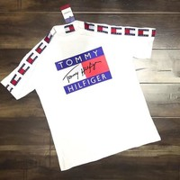 Tommy Hilfiger Women Men Originals Tnt Tape Logo T-shirt Tee-3