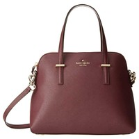 Kate Spade PXRU4471-588 Women's Cedar Street Maise Mulled Wine Crosshatched Leather Shoulder Bag