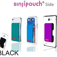 Sinjimoru Sinji Pouch Adhesive accessory pocket for all iPhone, iPod Touch, Galaxy S & Android smart phones - BLACK SIDE