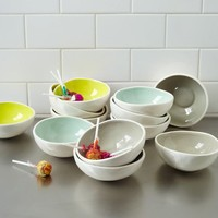 Colored Glaze Prep Bowls
