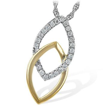 "Ben Garelick ""Apex"" Two-Tone Gold Diamond Pendant"