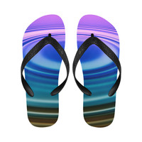 colorful ripple Flip Flops for Men/Women (Model 040) | ID: D2693762