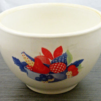 Vintage Small Pottery Kitchen Bowl