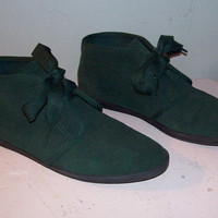 Vintage Green Suede ankel boots by Keds by cashmerevintage on Etsy