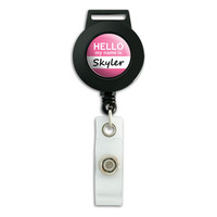 Skyler Hello My Name Is Retractable Badge Card ID Holder